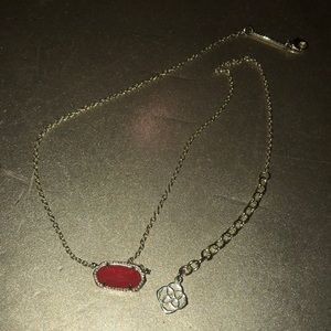 Kendra Scott Red and Gold Elisa Necklace